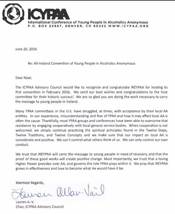 Letter of Support from ICYPAA